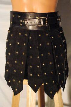 Greek Roman Leather Armor War Kilt Kidney belt