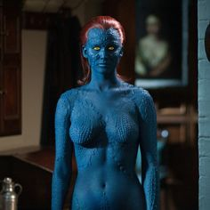 Jennifer Lawrence talks Mystique bodysuit Jennifer Lawrence has revealed that she'll be dispensing with the blue bodypaint in favour of a bodysuit when filming her scenes as Mystique in X-Men: Days Of Future Past