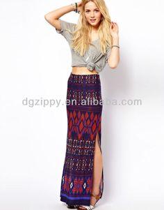 Resultado de imagen para falda tribal larga