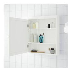 SILVERÅN Mirror cabinet - white - IKEA