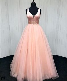 V Neck Evening Dress, Prom Dress Pink, Prom Dresses Long, Evening Dress V-neck, Prom Dress Long Prom Dresses Long Pink, Best Prom Dresses, V Neck Prom Dresses, Dresses Short, Beaded Prom Dress, Long Bridesmaid Dresses, Pageant Dresses, Formal Dresses, Dress Long