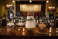 wedding cake and pies