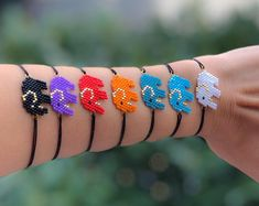 Miyuki Beaded elephant charmed bracelets, seven colors of elephant charmed bracelets, animal bracelet Beaded Jewelry, Beaded Necklace, Beaded Bracelets, Unique Jewelry, Embroidery Bracelets, Bead Earrings, Jewelry Necklaces, Loom Bracelet Patterns, Groomsmen