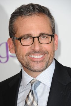 Steve Carrell, great smile and quite handsome, but still kind of nerdy