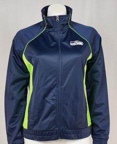 GIII Women's NFL Seattle Seahawks Bling Zip Up Track Jacket #GIII #Seahawks