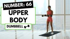 Upper Body Workout with Weights: 66 - YouTube Upper Body Hiit Workouts, At Home Glute Workout, Stairs Workout, Full Body Hiit Workout, Dumbbell Workout, Belly Fat Workout, Workout Videos, Ab Workouts, Cardio For Fat Loss