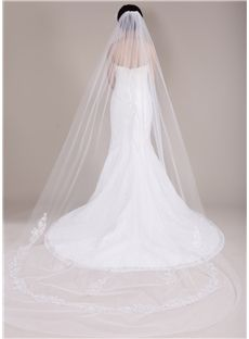 New Arrival Cathedral Train Long Wedding Veil Tulle Bridal