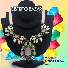 Encuentra collares así de hermosos en www.distritobazar.com