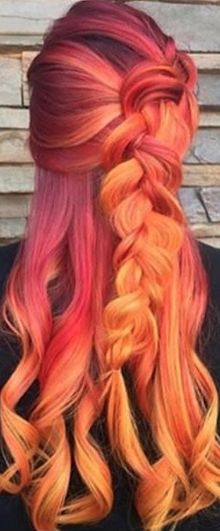 Sunset inspired hair