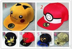 Poke Hats Snapback Cotton Baseball Children Adult Cartoon Sports Hip Hop Picacho caps hockey Sport Hat