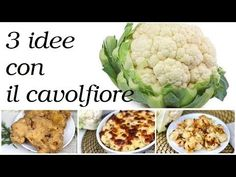 Cavolfiore 3 migliori ricette da preparare subito - YouTube Food Inspiration, Cauliflower, Food And Drink, Cooking Recipes, Vegetables, 3, Youtube, Muffin, Home