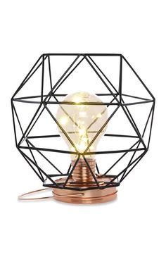 Primark - Tafellamp van zwart draad