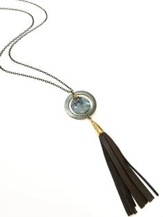 Ocean Jasper Leather Tassel Necklace – TOODLEBUNNY