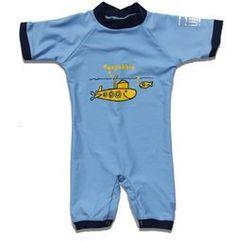 Sonpakkie yellow submarine UV protection swimsuit for baby's UPF 80