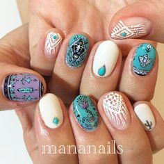 "2,359 Likes, 9 Comments - mananails (@mananails) on Instagram: ""inspired by @spell_byronbay"""