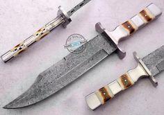 "13.50"" Custom Manufactured Beautiful Damascus Steel Bowie Knife (892-1) #KnifeArtist"