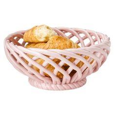want: pink ceramic basket