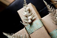 I'm heading out on vacation tomorrow and so I leave you with some of my Christmas wrapping. I'm still into the brown paper this year, but I. Holiday Gift Guide, Holiday Crafts, Christmas Feeling, Elegant Christmas, Christmas Holidays, Xmas, Gift Wraping, Wrapping Gifts, Wrapping Ideas