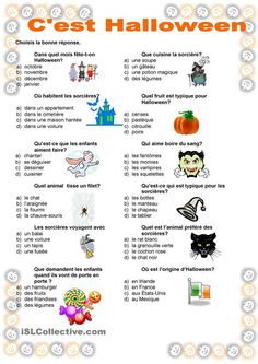 Cest Halloween Bricolage Halloween, Soirée Halloween, Holidays Halloween, Halloween Decorations, Halloween Worksheets, Halloween Activities, French Poems, Teaching French, Learn French