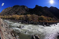 From our Colorado office.  Fly fishing the Glenwood Canyon section of the Colorado River, scenic and a thrilling white water experience with few if any other anglers.
