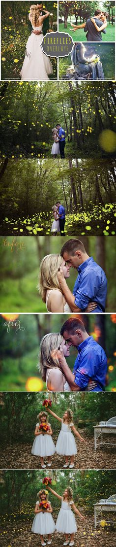 35 Fireflies Photo Overlays. Photoshop Layer Styles. $9.00