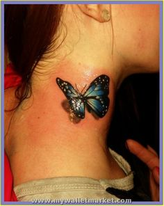 Tattoo Designs Ideas for Men and Women — 3d butterfly tattoo