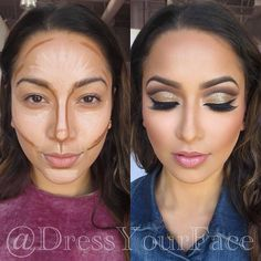 Several Important Tips on How To Contour for Real Life ★ Easy Contouring for Beginners picture 6 ★ S Easy Contouring, Make Up Tutorial Contouring, Contouring For Beginners, Makeup For Beginners, Contouring With Bronzer, How To Blend Contouring, Natural Makeup Looks, Simple Makeup, Beauty Secrets