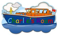 Personalised Child's Life Boat Door Plate