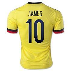 コロンビア代表 2015 サッカーユニフォーム ホーム 短袖 #10ハメス・ロドリゲス - サッカーユニフォーム専門店|NBA・MLB・NFL|スポーツ用品通販