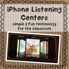 Technology is a great tool for developing listening comprehension. This can consist of listening devices such as iphones, ipad  or simple books on tape/CD.