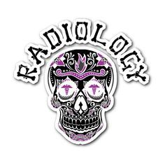 Radiology Skull Sticker. I want this on a shirt!