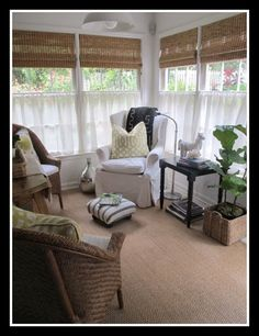 If the home we are living in was ours, I would convert our screened in porch into a room like this.