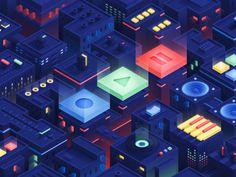The Music City by Julei Isometric Drawing, Isometric Design, Music Illustration, Graphic Design Illustration, Board Game Design, Linux, Adobe Illustrator Tutorials, Affinity Designer, Motion Design