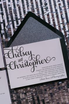 ADELE Suite // STYLED // Glitter Package, grey, titanium, gun metal, glitter wedding invitations