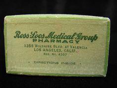1930s Vintage Prescription Box, Tiny Medical Dropper, L.A. Vintage Collectible, California Vintage, Green Hinged Prescription Box, Pill Box by OldRaven on Etsy