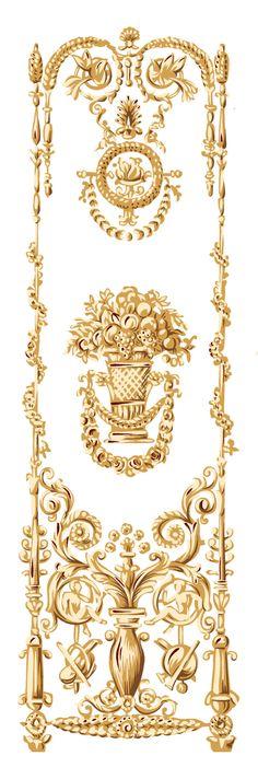 Baroque Pattern, Baroque Design, Pattern Art, Print Patterns, Decorative Borders, Decorative Panels, Textile Prints, Textile Design, Motif Arabesque