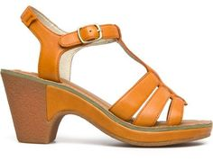 For Spring Summer 2013 Camper presents Tiramisu, an orange open sandal with an 8cm heel made of full grain leather.