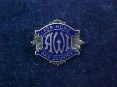 Orig WW2 Badge For Home  Country Alberta Womens Institute Birks Sterling | eBay