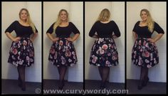 8a9dd396ebe Caroline from CurvyWordy has been in the Scarlett   Jo Black 2 in 1 Floral  Prom Dress - and we love it on her!