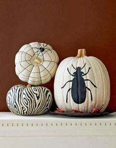White pumpkins are a nice twist on the usual pumpkins for Halloween