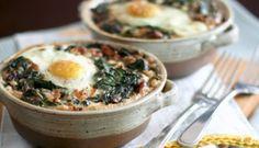 Spinach and Buckwheat Egg Bake