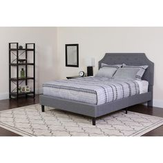eb74370748 14 Best Grey Platform Beds images in 2018 | Upholstered platform bed ...
