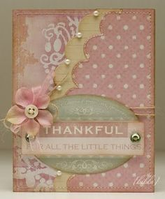 Shabby Chic Thankful Card...