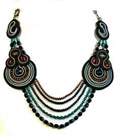 Beads Perles: ¡¡¡NUEVO ESQUEMA DE SOUTACHE!!! Collar Itzel