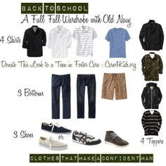Fall Wardrobe for Teen Boys