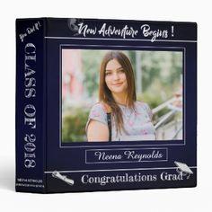 Chalkboard Multi Photo   Change Age   Album 3 Ring Binder   Zazzle.com Graduation Scrapbook, Graduation Gifts, Bridal Shower Scrapbook, Multi Photo, Binder Inserts, Binder Design, Photo Memories, Custom Binders, Ring Binder