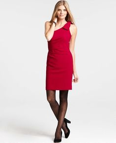 Ann Taylor - AT Sale Dresses - Petite Crepe One Shoulder Dress  I'm thinking I'd like wearing this dress in a shade of navy