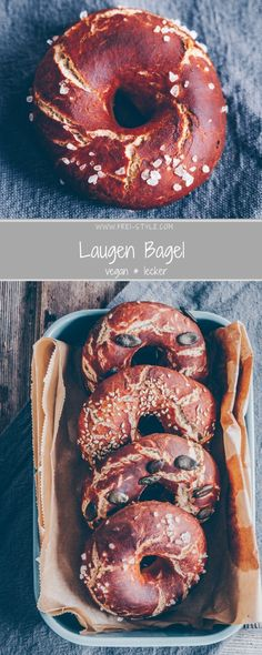 Pretzel bagel * Freistyle – Famous Last Words Vegetarian Breakfast, Breakfast Recipes, Baked Chicken, Chicken Recipes, Vegetable Protein, Snacks Für Party, Vegan Butter, Pretzel, Vegan Recipes