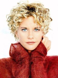 short hairstyle - curly hairstyle - blonde hairstyle. Thinking about this haircut......