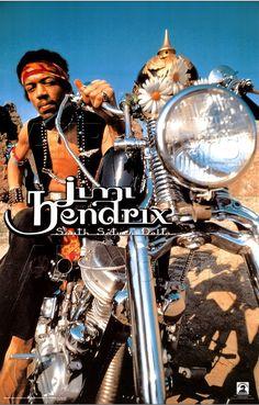 Jimy Hendrix : chopper Harley-Davidson Panhead 1964